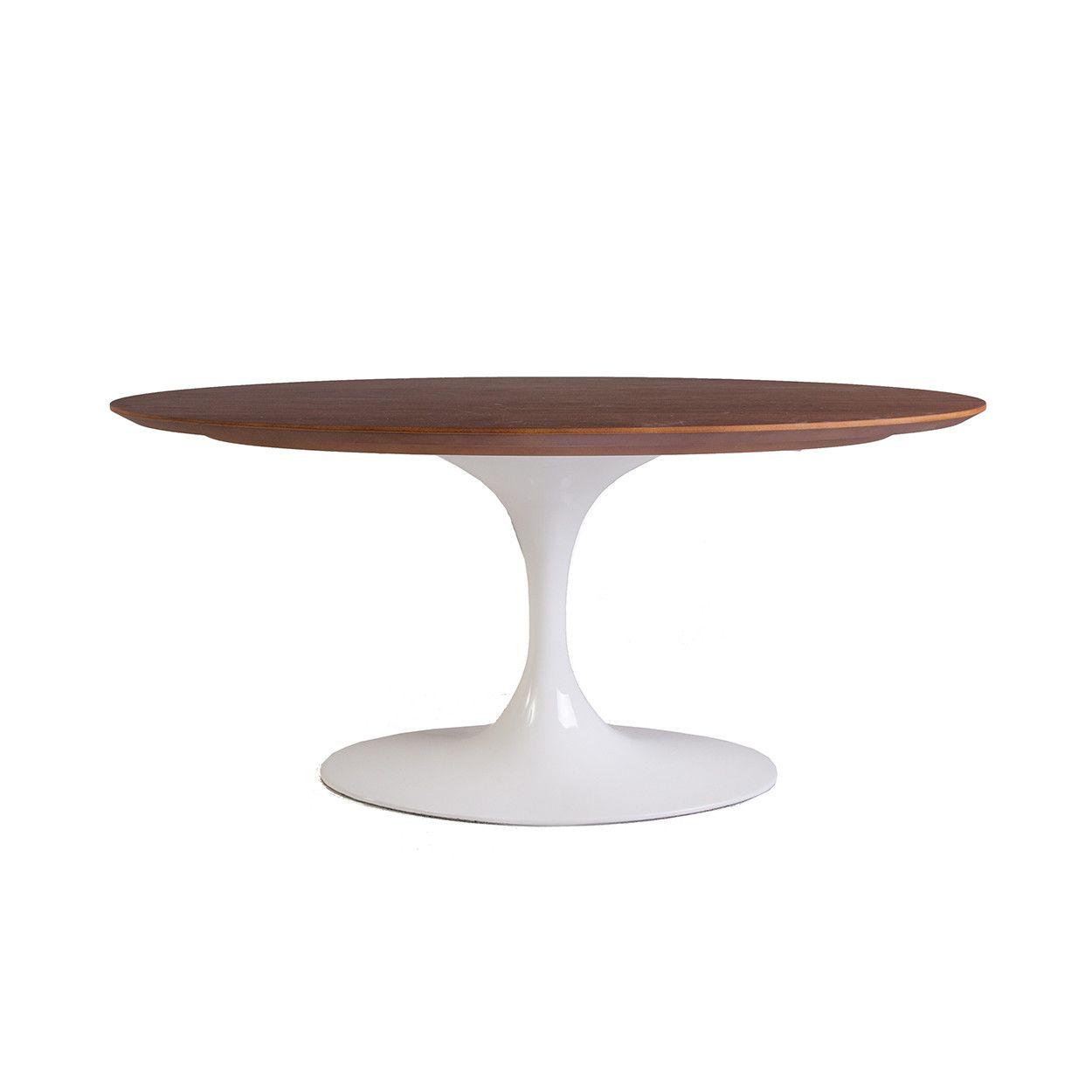 Mid Century Modern Reproduction Walnut Tulip Coffee Table 42 Oval Inspired Tulip Coffee Table Mid Century Modern Coffee Table Midcentury Modern Kitchen Table