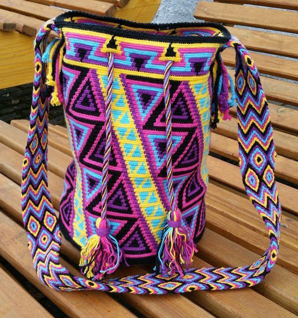 Wayuu mochila bag, eigene Muster, eigene Anleitung | Vayuú ...