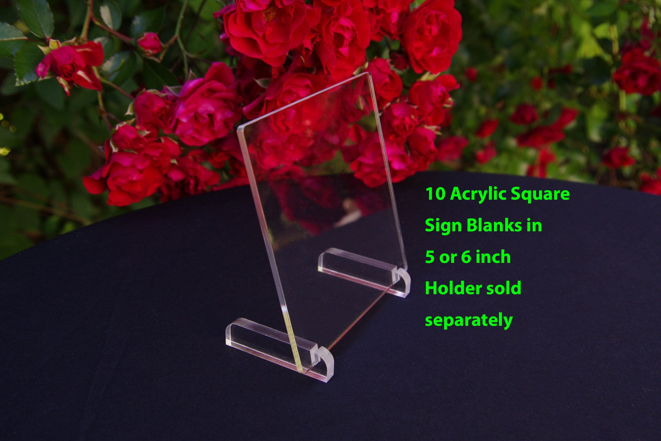 10 Acrylic Blank Table Number Sign Acrylic Sign Blank For Vinyl 5 Inch 6 Inch Acrylic Square Sign Blank Wedding Table Blank Signs Sb03 Acrylic Sign Bla