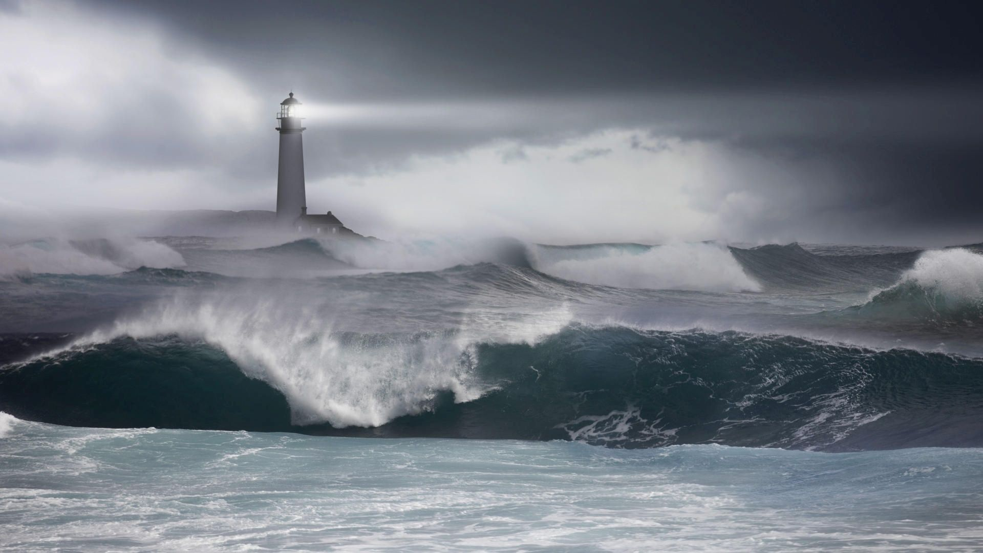 Lighthouse Storm Boat | Lighthouse in the storm Wallpaper ...