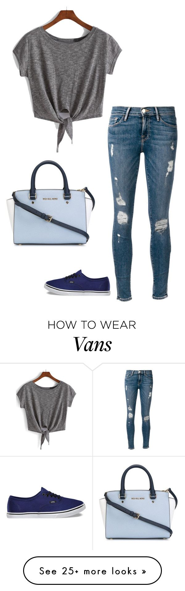 """""""Untitled #718"""" by angiedisa on Polyvore featuring Frame Denim, Vans and MICHAEL Michael Kors"""