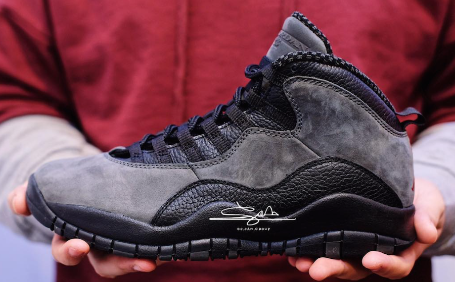 912bbec9342 First Look At The Air Jordan 10 Dark Shadow 2018