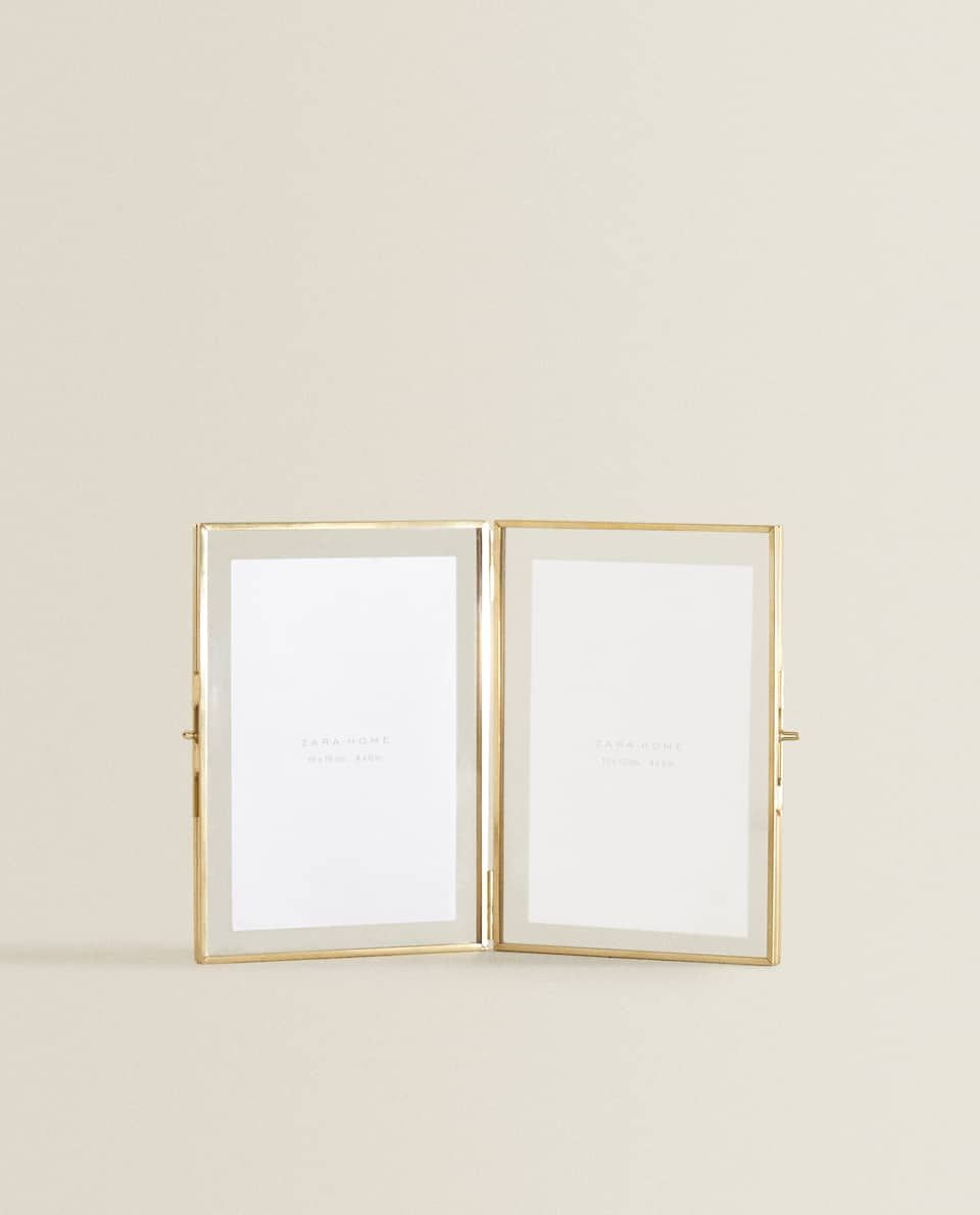 Image 1 Of The Product Double Gold Frame In 2020 Zara Home Gold Photo Frames Zara Home Canada