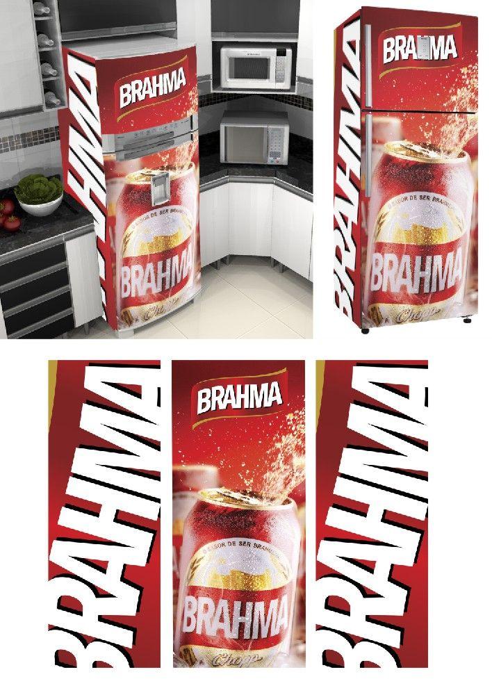 fcded7c28fa71 Adesivo Envelopamento de Geladeira BH060 Brahma
