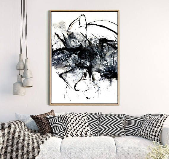Black abstract art abstract print black and white art print minimalist poster giclee print home decor wall decor wall art