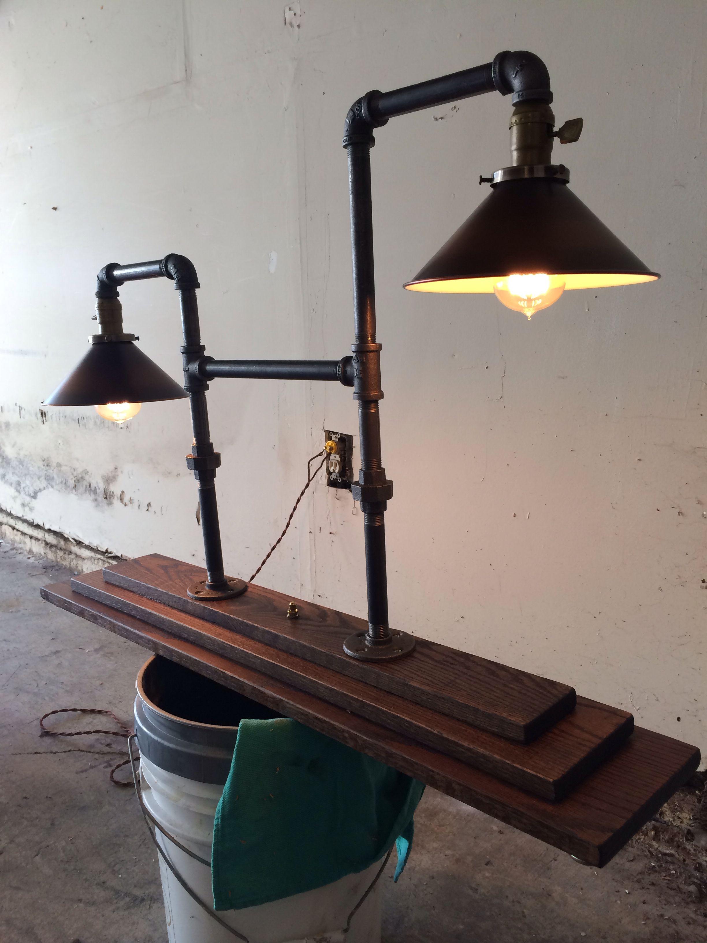 pipe lamp pipe lamp pinterest. Black Bedroom Furniture Sets. Home Design Ideas