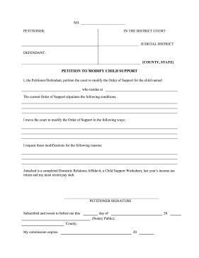 Great For Alimony Cases This Printable Petition Requests A