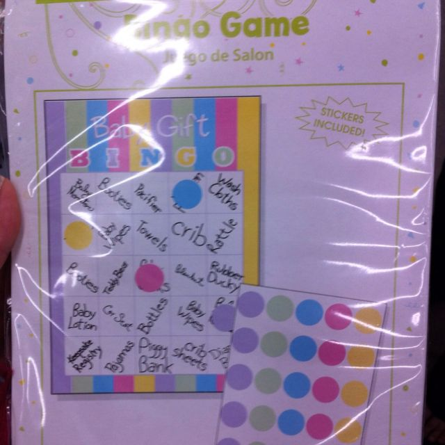 Baby shower gift game