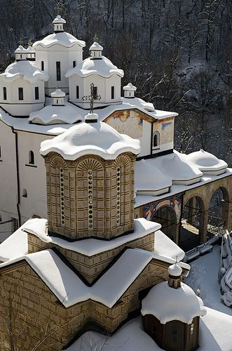The Church of St. Joachim of Osogovo and the Church of the Holy Mother of God at the Osogovo Monastery, Republic of #Macedonia - built in the traditional #Byzantine style