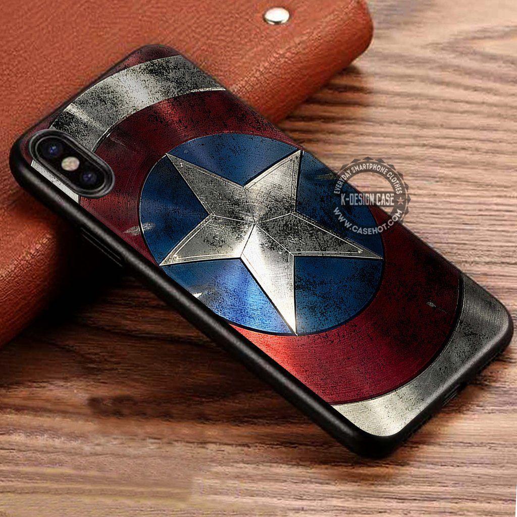 Captain America Shield iPhone X 8 7 Plus 6s Cases Samsung Galaxy ...