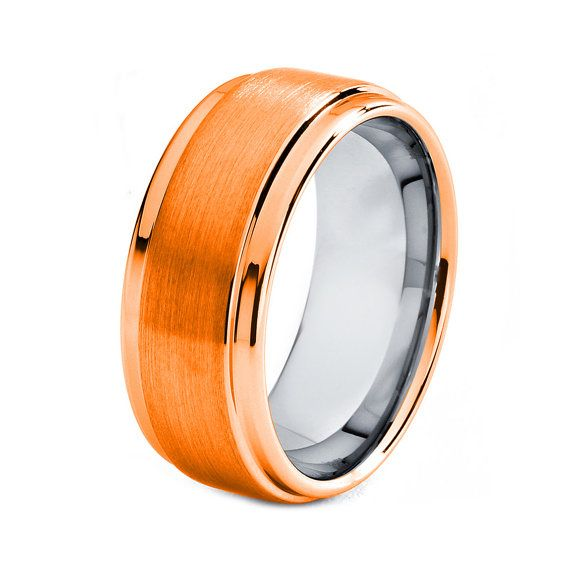 Now Thatu0027s Badass, And You Know No One Would Have That. Awesome. | Orange  Titanium Ring, Orange Men Titanium Rings, Orange Wedding Bands, Orange Mens  Band, ...