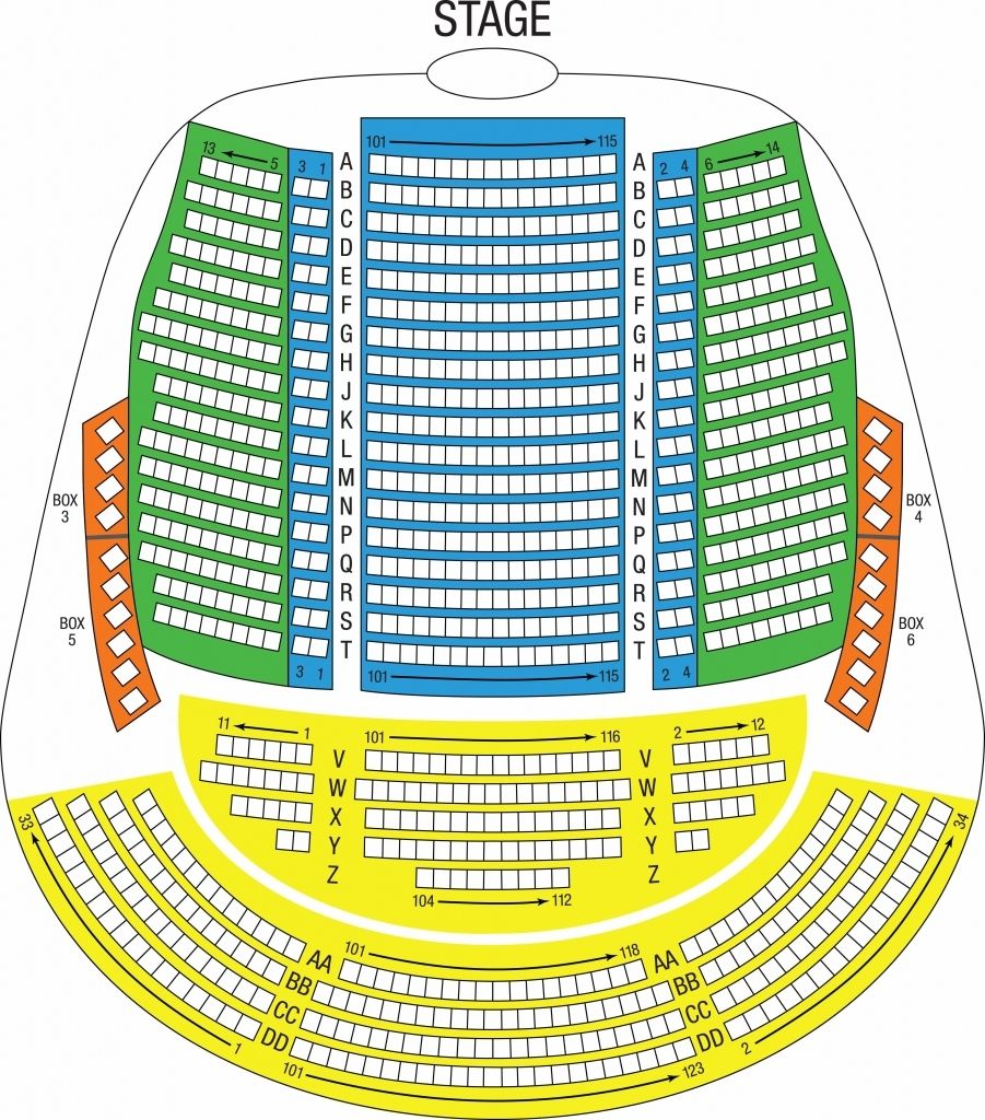 El Capitan Seating Chart