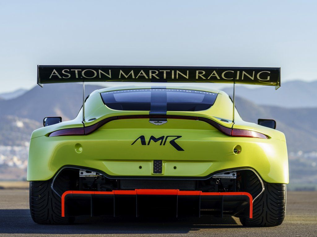 Rear View Race Car Aston Martin Vulcan Amr Pro Wallpaper Aston
