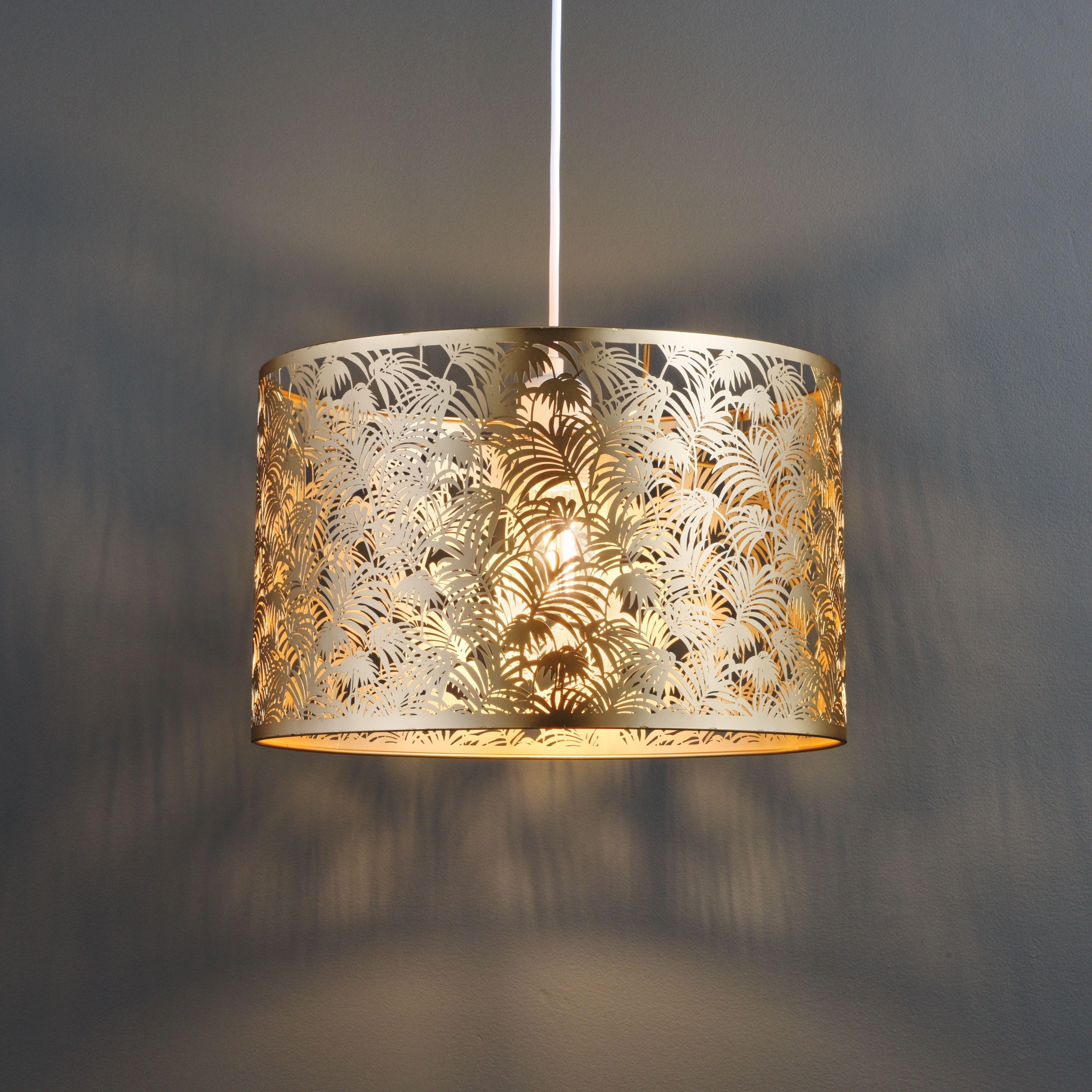 Karmina modern satin rose gold effect light shade from B&Q\'s latest ...