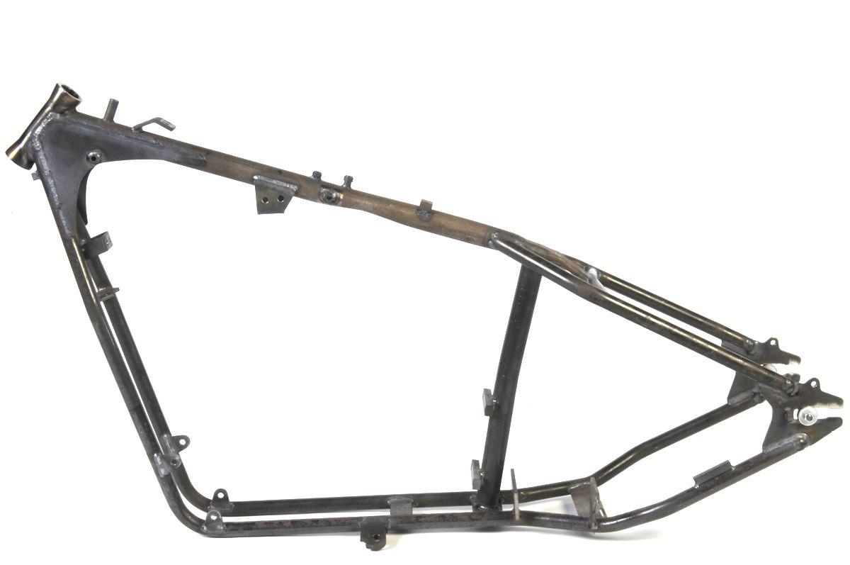 Custom rigid frame features flatside bobbed tank mounts, kickstand ...