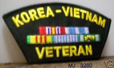 Korea - Vietnam Veteran Embroidered Patch