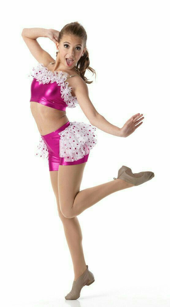 Miss Popular Foil Glitter Dot Jazz Tap Dance Costume Child Adult Sizes