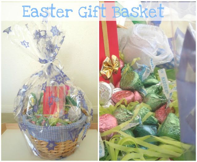 Easter kisses basket gift wrap idea easter gift baskets easter easter gift basket last minute easy and cute idea negle Image collections