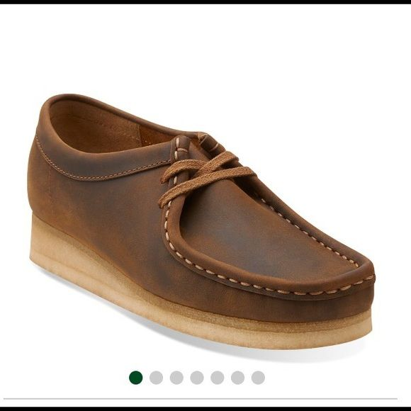 Clarks wallabees size 10 in beeswax leather Brand new, never