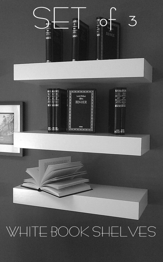 48 Long Floating White Lacquer Shelves Single Shelf By Mrselecta 59 00