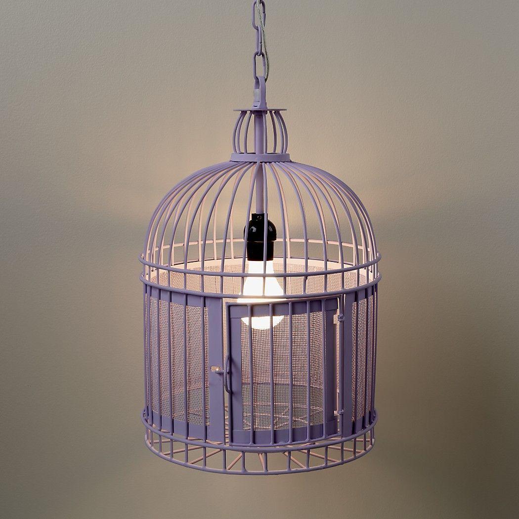 Like a Bird in a Cage Pendant Lamp (Purple) Cage pendant
