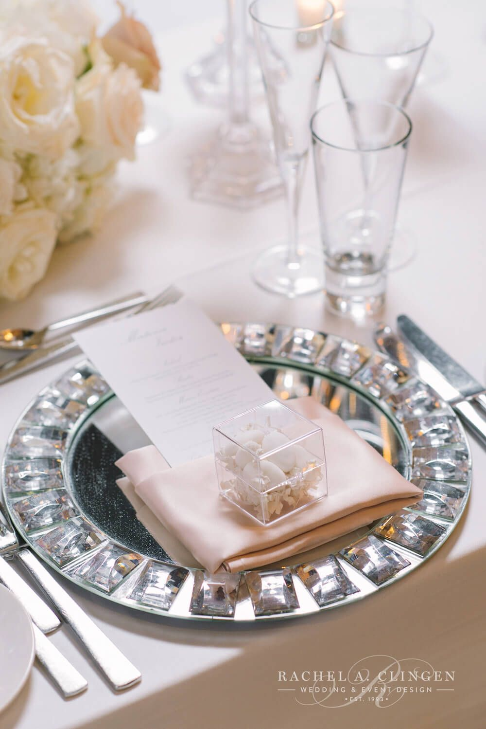 crystal-charger-plates | Bridal Themes & Ideas ... So little time ...
