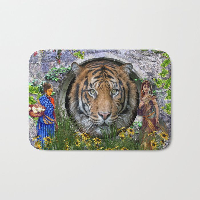 A wildlife Bengaltiger Bath Mat by justkidding