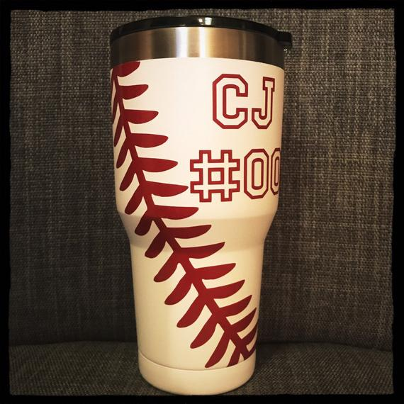 d5079b3532d Personalized Baseball Tumbler Cup 30oz Gift for Mom, Men, Sports ...