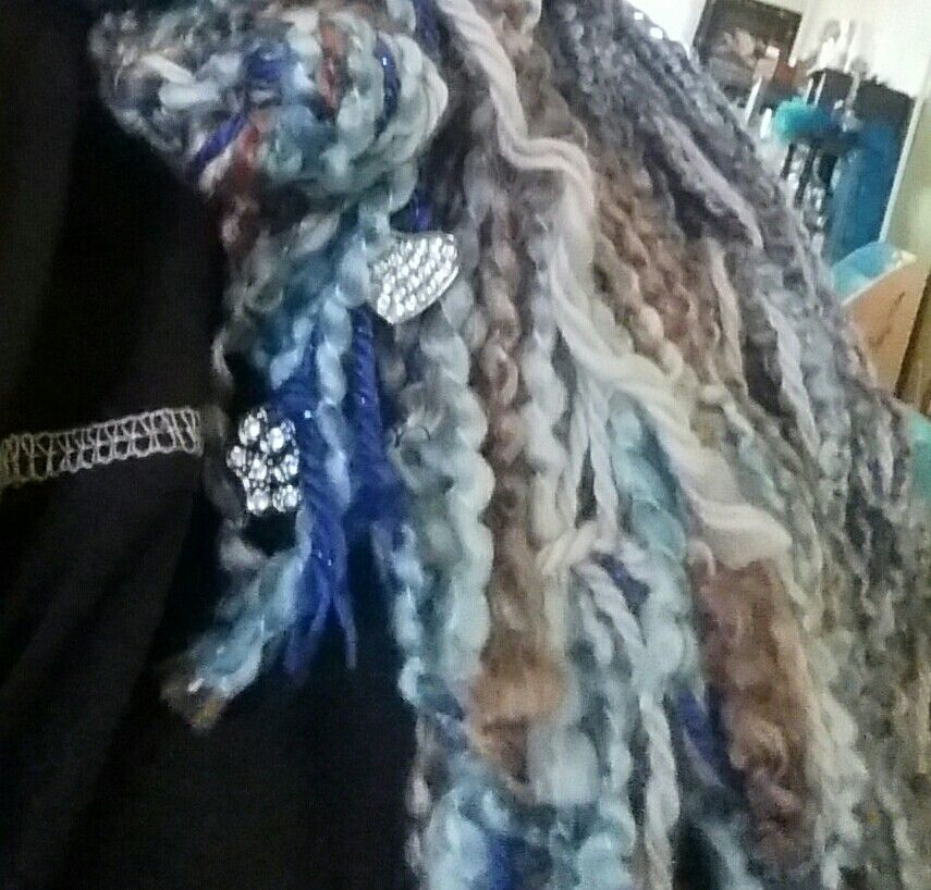 Lil Wildcat love/bling on this scarf