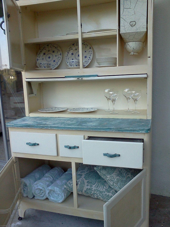 Vintage mcdougall hoosier kitchen cabinet ~ all original | vintage ...