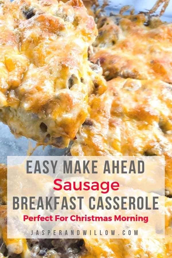 Best Ever Easy Sausage Breakfast Casserole Recipe #breakfastcasserolemakeahead
