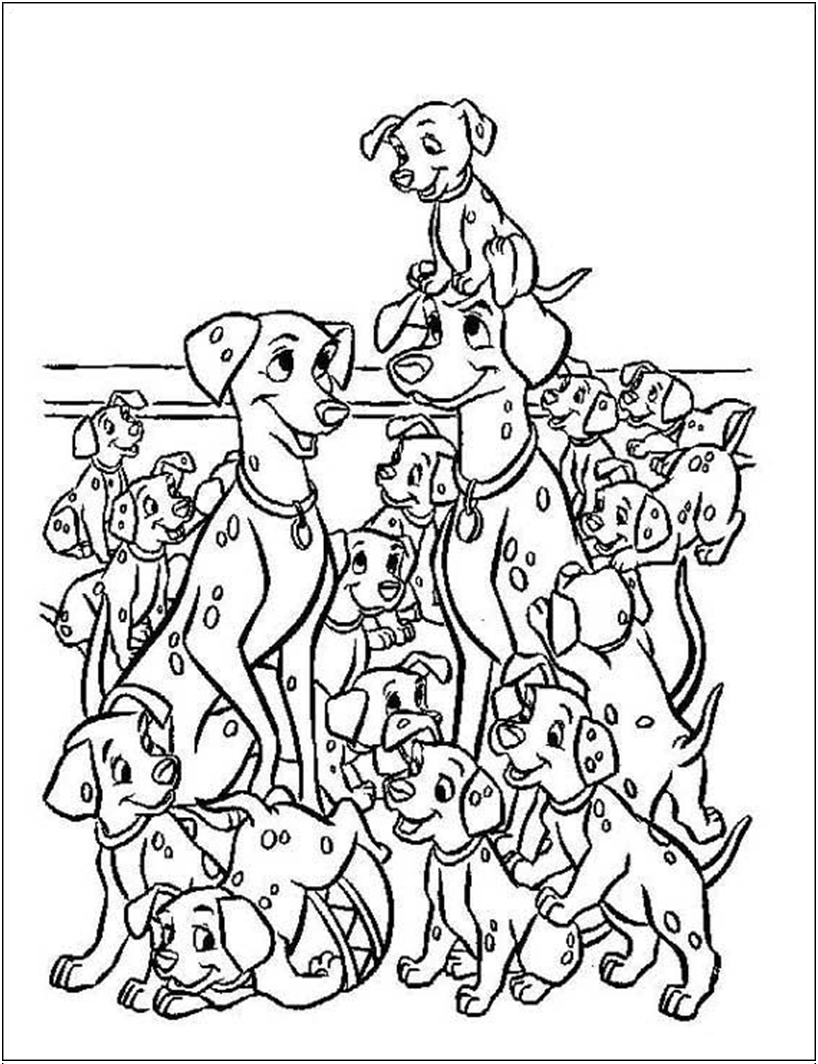 102 Dalmatians coloring page Coloring pages and