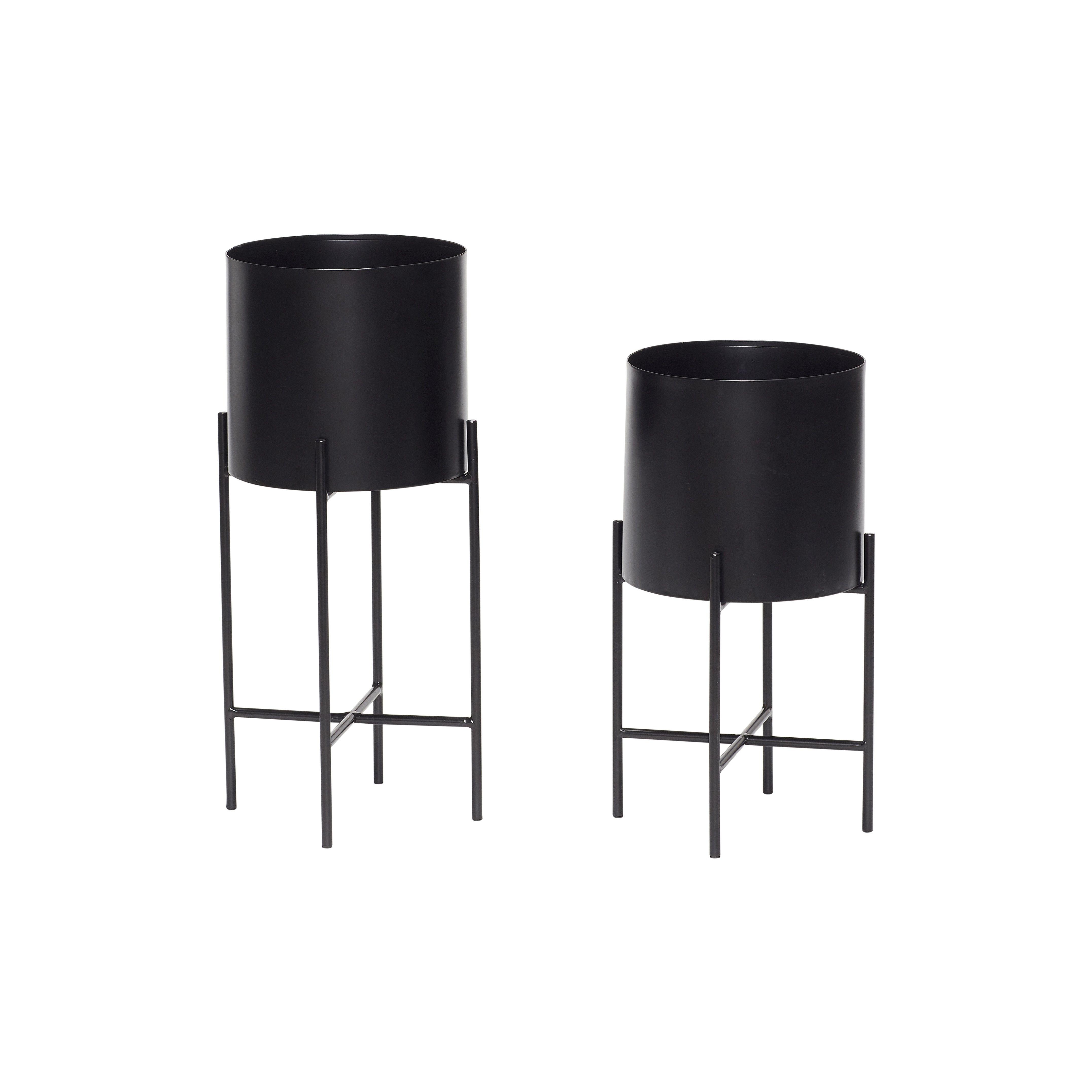 blumentopf mit gestell 2er set in 2019 alles schwarz. Black Bedroom Furniture Sets. Home Design Ideas