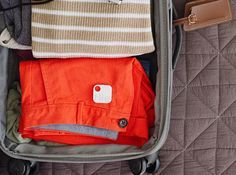 Tile ($25 each) keeps track of your luggage, and can locate it when lost.