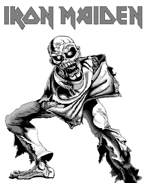 Black And White Eddie Iron Maiden In 2019 Iron Maiden