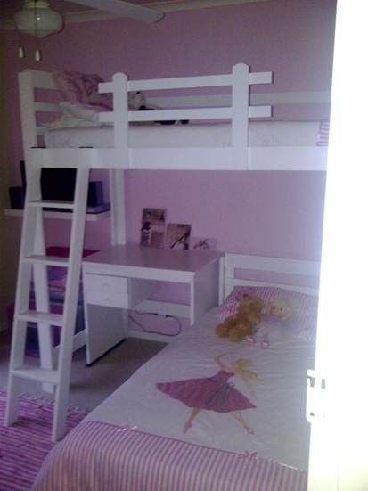 Loft Bed With Desk And Bottom Bed Made To Order Lansdowne Gumtree South Africa 161779540 With Images How To Make Bed Loft Bed Bed