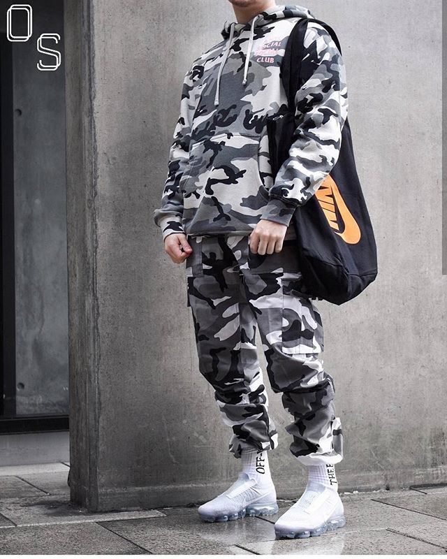5ae7e6d163b6 Instagram media by outfitsociety -  OutfitSociety via  cultureandvibes  Presents  sxmlynn you feel the camo  Antisocial Social Club Rothco Pants  and Nike Air ...