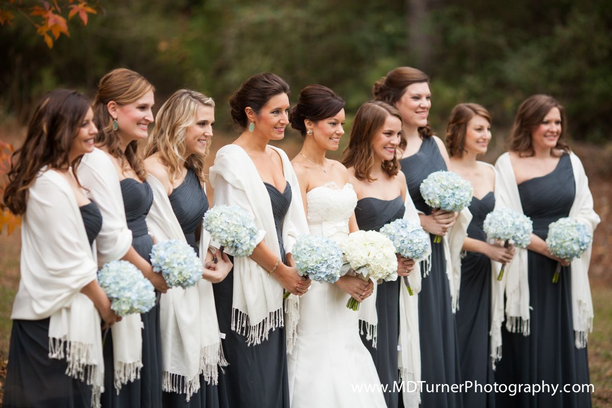 Blue gray bridesmaid dresses with white pashminas houston blue gray bridesmaid dresses with white pashminas houston wedding photography md turner photography ombrellifo Choice Image