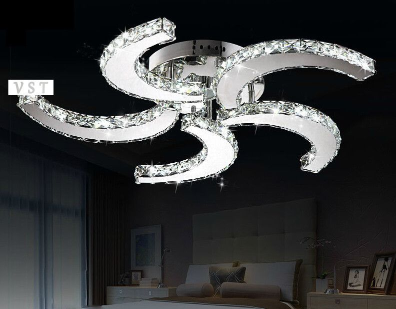Ceiling fan chandelier combo free shipping modern crystal chandelier home lighting led chandelier