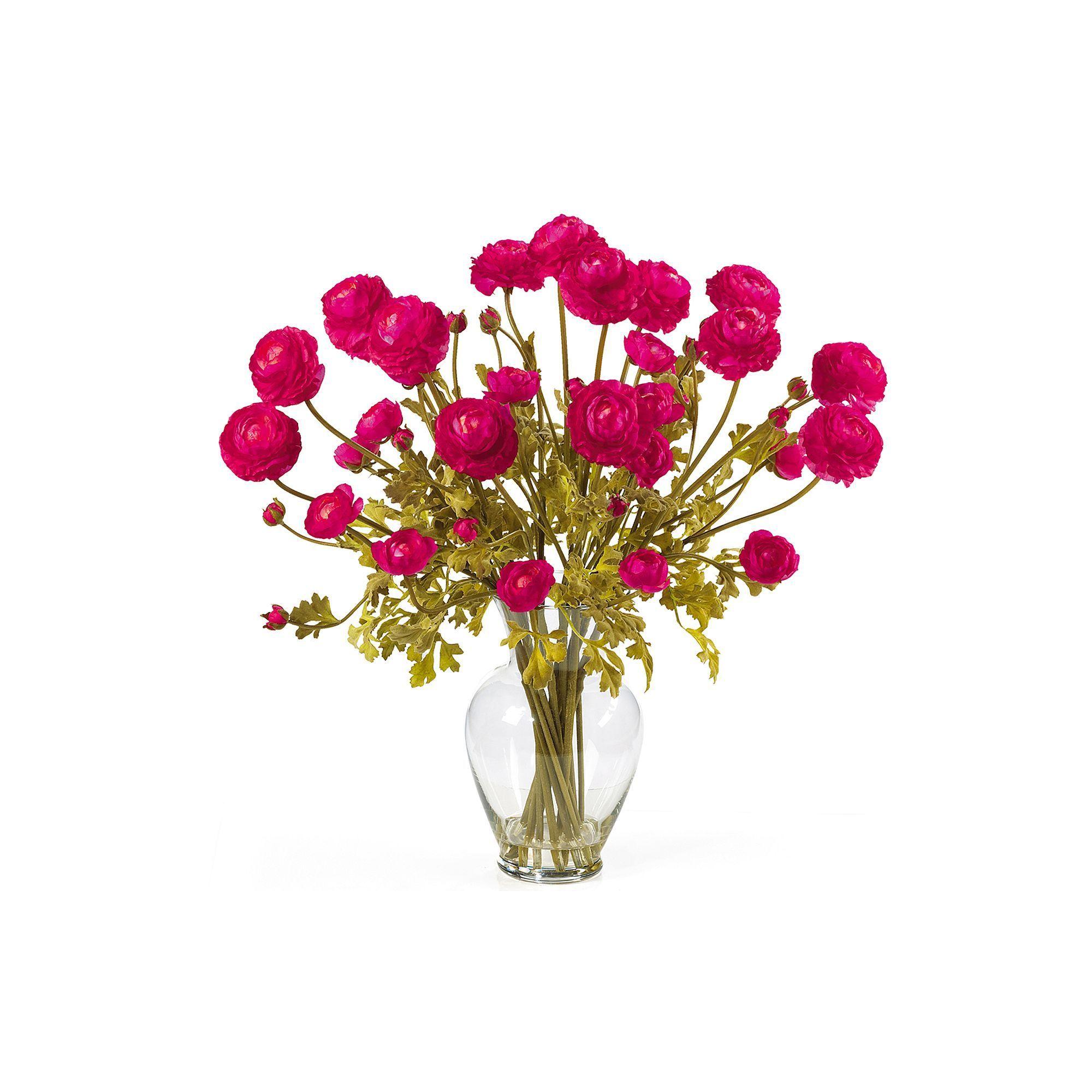 nearly natural Silk Ranunculus Floral Arrangement, Multicolor