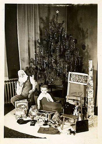 Vintage Christmas photo Vintage Santa Photos Album Pinterest