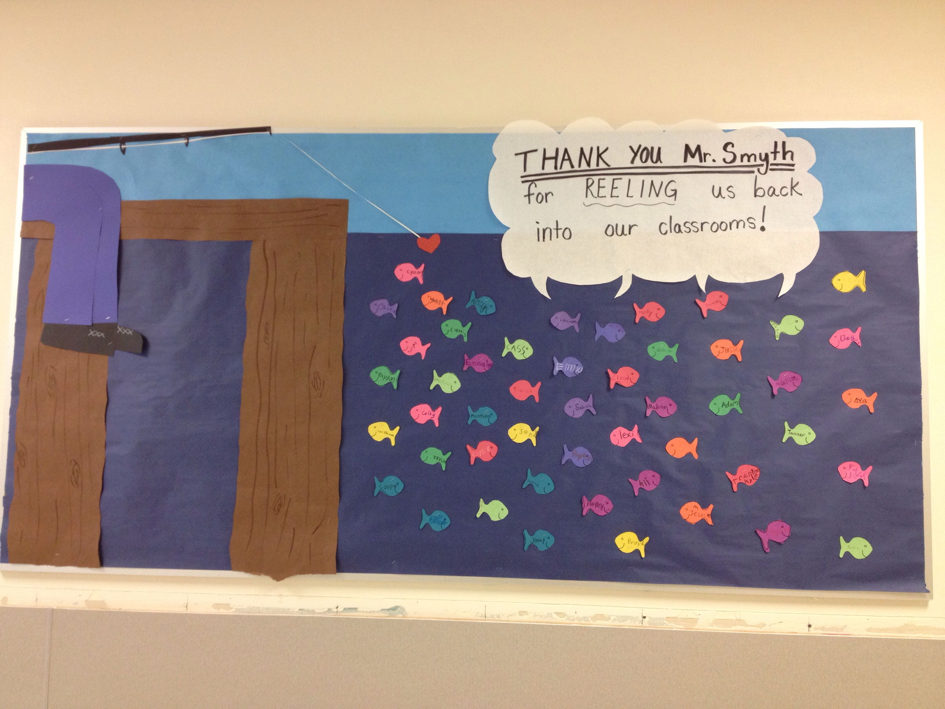 good Thank You Bulletin Boards Ideas Part - 12: Thank you bulletin board for janitor