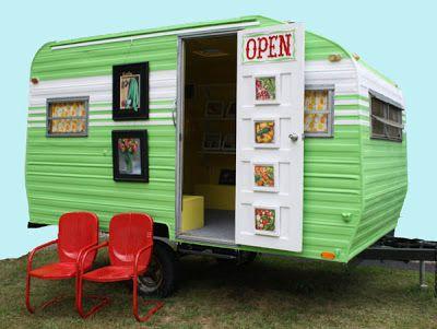 Nicole Caulfield Fine Art: Camper is ready! Sublime Mobile Art Studio
