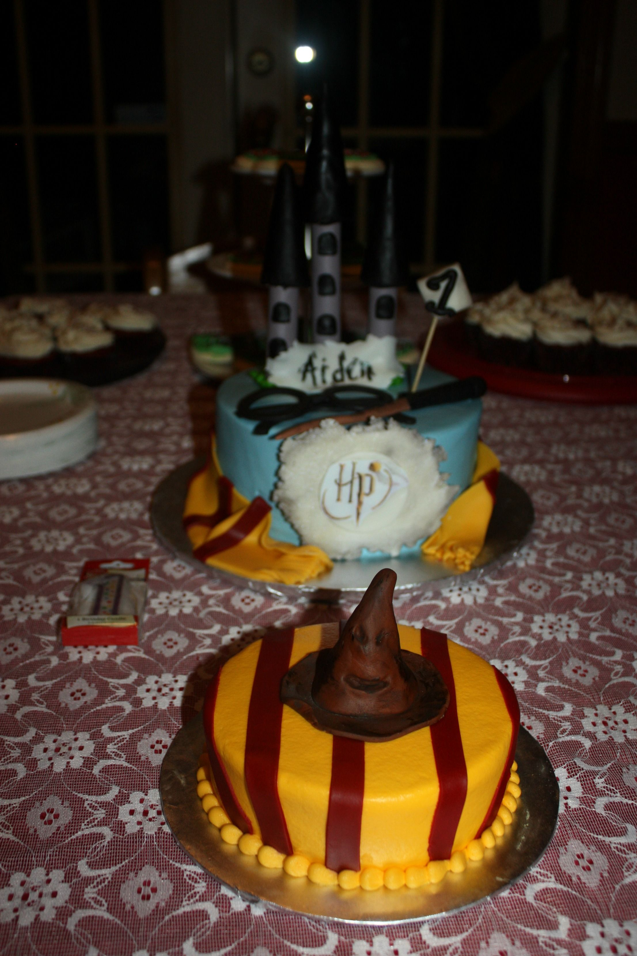 1st birthday cakes Harry Potter Theme Aiden loved them Aiden