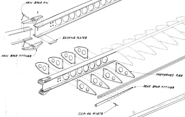 Aeroplane structure design | sailplane spar joining methods-monerai-wing-joint.jpg