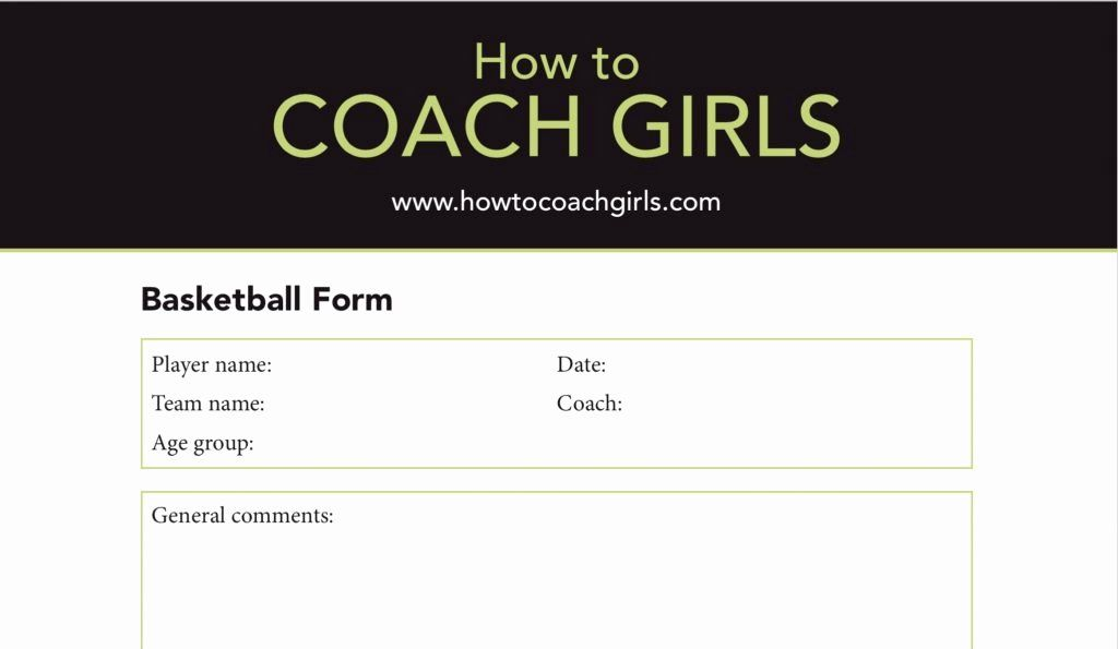 Basketball Player Evaluation Form Lovely Basketball Player Evaluation Downloadable Form Evaluation Form Basketball Players Team Names