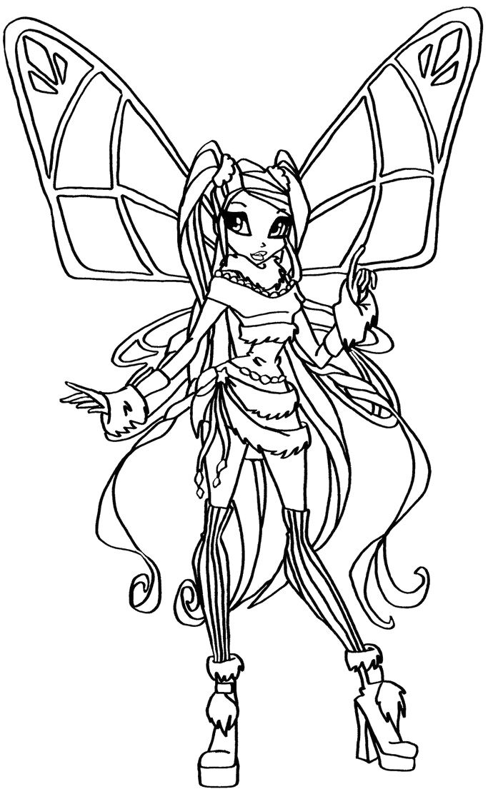 Winx Club Coloring Pages Stella Winx Club Coloring Pages Ikids