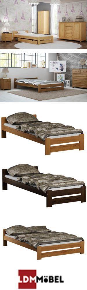 Bett Gastebett Kiefernholz Doppelbett Box Doppelbett Lattenrost