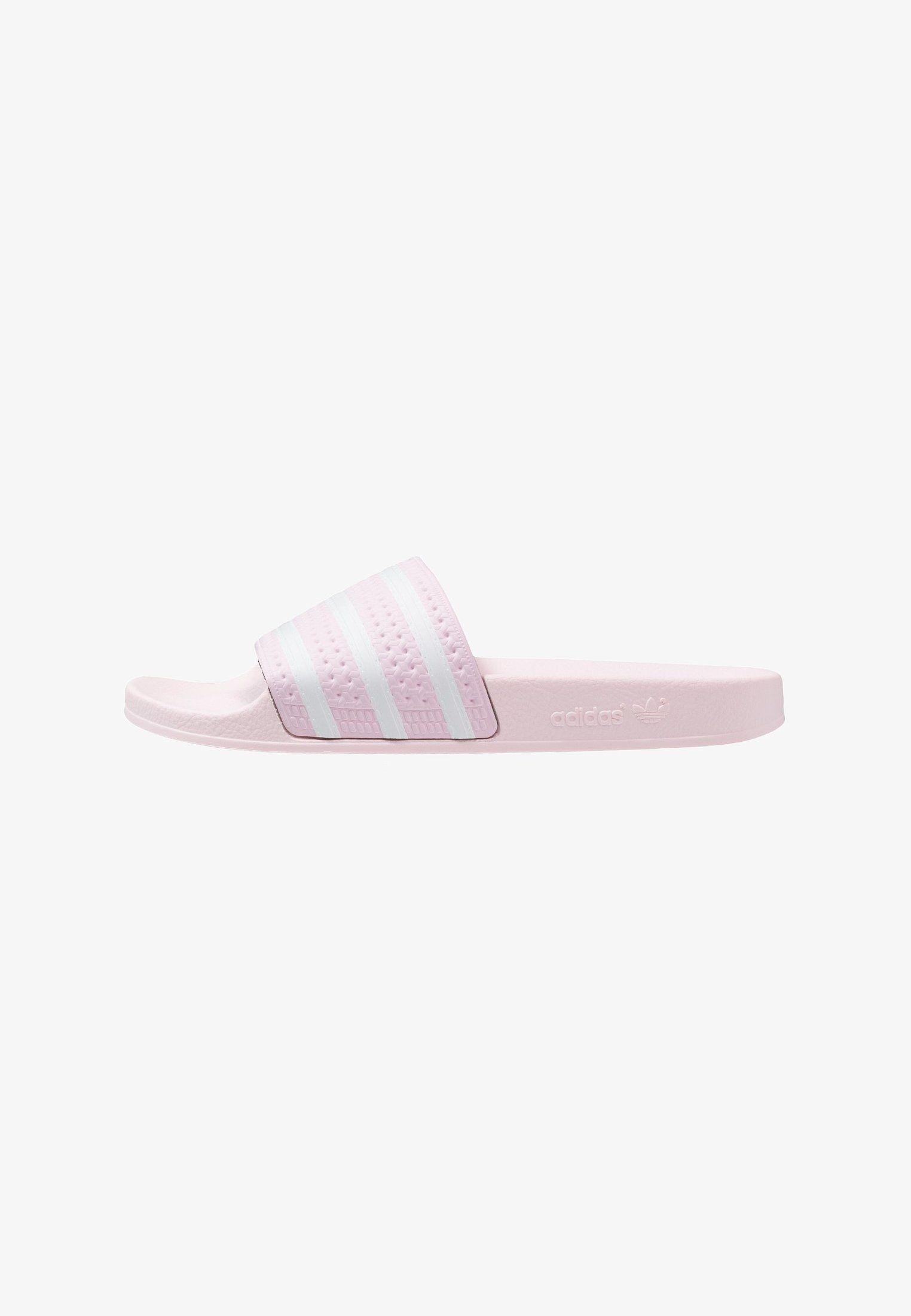 adidas Originals ADILETTE - Badslippers - clear pink ...