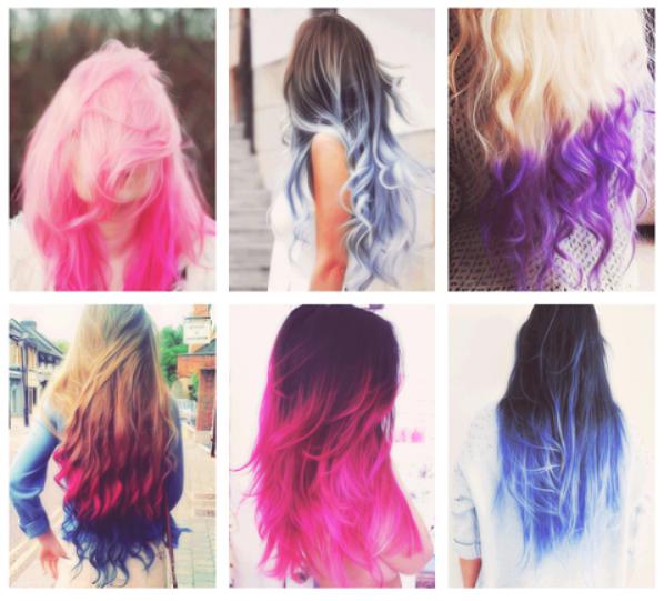 Teinture cheveux flash